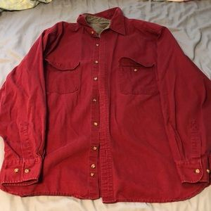 Red Button-Down Shirt : Faded Glory